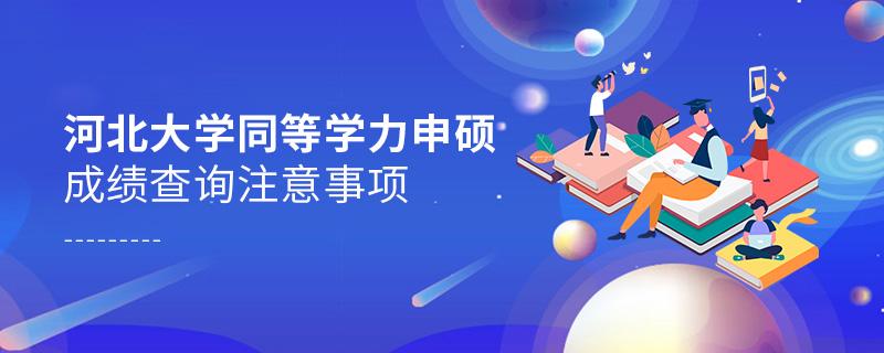 河北大学同等学力申硕成绩查询注意事项