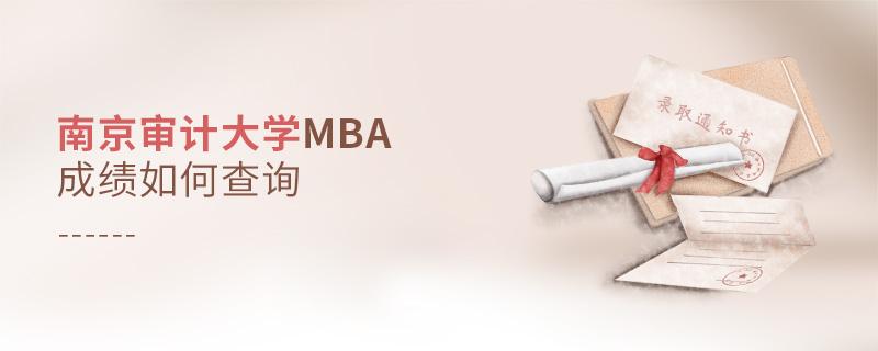 南京审计大学MBA成绩如何查询