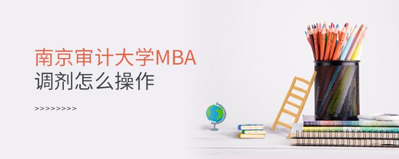 南京审计大学MBA调剂怎么操作
