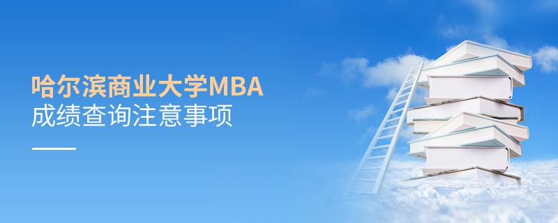 哈尔滨商业大学MBA成绩查询注意事项